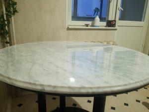 stone care - переполировка мраморный стол