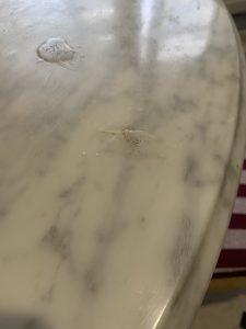 stone care - мраморный стол вздулся потрескался лак